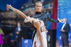 Minsk, Belarus-February 14,2015: Professional Dance Couple of Ko Stock Photography