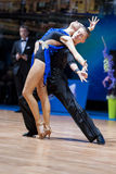 Minsk, Belarus-February 14,2015: Professional Dance Couple of Tc Royalty Free Stock Photos