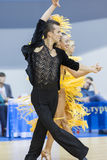 MINSK-BELARUS, FEBRUARY, 9: Unidentified Dance Couple Performs A Royalty Free Stock Images