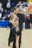 MINSK-BELARUS, FEBRUARY, 9: Unidentified Dance Couple Performs A Stock Images