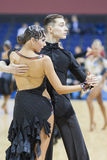 MINSK-BELARUS, FEBRUARY, 9: Unidentified Dance Couple Performs A Stock Photography