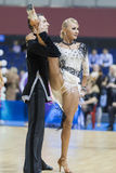 MINSK-BELARUS, FEBRUARY, 9: Unidentified Dance Couple Performs A Stock Photo