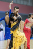 MINSK-BELARUS, FEBRUARY, 9: Unidentified Dance Couple Performs A Royalty Free Stock Photo