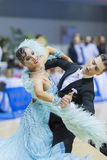 MINSK-BELARUS, FEBRUARY, 9: Unidentified Dance couple performs A Royalty Free Stock Photography