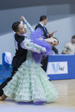 Minsk-Belarus, February, 23: Unidentified Dance Couple Performs Royalty Free Stock Photos