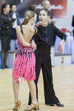 MINSK-BELARUS, FEBRUARY, 9: Unidentified Dance Couple Performs Y Stock Images