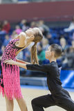 MINSK-BELARUS, FEBRUARY, 9: Unidentified Dance Couple Performs Y Stock Photos