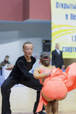 Minsk-Belarus, February, 23: Unidentified Dance Couple Performs Stock Image