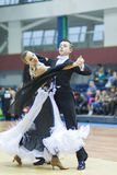 Minsk-Belarus, February, 22: Unidentified Dance Couple Performs Stock Photos