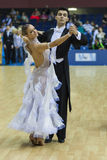 Minsk-Belarus, February, 22: Unidentified Dance Couple Performs Stock Image