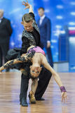 Minsk, Belarus-February 14,2015: Unidentified Professional Dance Royalty Free Stock Photography