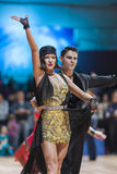 Minsk, Belarus-February 15,2015: Vitenko Andrii and Baran Sofiia Royalty Free Stock Images