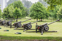 Minsk, Belarus - 03 July 2017 Cannon on the parade, Independence Day. Royalty Free Stock Images