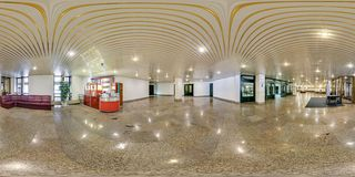 MINSK, BELARUS - JULY, 2016: full seamless panorama 360 degrees  angle view in interior of luxury empty hall. 360 panorama in stock image