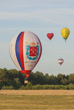 Minsk-Belarus, July 19, 2015: International Teams Participating in Air-Balloons International Aerostatics Cup Stock Images
