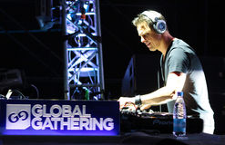 MINSK, BELARUS - JULY 6: Markus Schulz at the Global Gathering Festival on July 6, 2013 in Minsk Stock Image