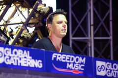 MINSK, BELARUS - JULY 6: Markus Schulz at the Global Gathering Festival on July 6, 2013 in Minsk Royalty Free Stock Photos