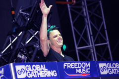 MINSK, BELARUS - JULY 6: Markus Schulz at the Global Gathering Festival on July 6, 2013 in Minsk Royalty Free Stock Photo