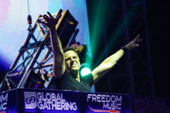 MINSK, BELARUS - JULY 6: Markus Schulz at the Global Gathering Festival on July 6, 2013 in Minsk Stock Photo