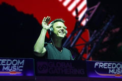 MINSK, BELARUS - JULY 6: Markus Schulz at the Global Gathering Festival on July 6, 2013 in Minsk Royalty Free Stock Photography