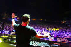 MINSK, BELARUS - JULY 6: Markus Schulz at the Global Gathering Festival on July 6, 2013 in Minsk Stock Photography