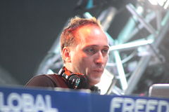 MINSK, BELARUS - JULY 6: Paul van Dyk at the Global Gathering Festival on July 6, 2013 in Minsk Royalty Free Stock Photo