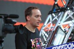 MINSK, BELARUS - JULY 6: Paul van Dyk at the Global Gathering Festival on July 6, 2013 in Minsk Royalty Free Stock Photo