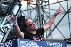 MINSK, BELARUS - JULY 6: Paul van Dyk at the Global Gathering Festival on July 6, 2013 in Minsk Stock Photo