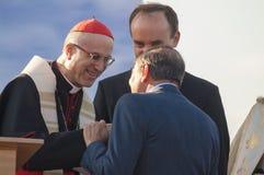 MINSK-BELARUS, JUNE, 21: Roman Cardinal Tarcisio Bertone opens n Royalty Free Stock Photos