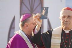 MINSK-BELARUS, JUNE, 21: Roman Cardinal Tarcisio Bertone opens n Stock Images