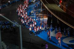 Minsk, Belarus-21 june, 2019: The national team of Slovakia at the opening ceremony of the second European games in. Minsk. Dinamo Stadium stock image