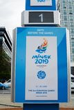 Symbol of second European Games on Nemiga. royalty free stock photos