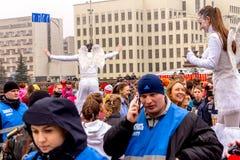 Minsk, Belarus 8. MÄRZ 2017 Stockbild