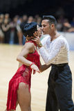 MINSK-BELARUS, MAI, 18: Nicht identifiziertes Tanzpaar führt ERWACHSENEN durch Lizenzfreies Stockbild