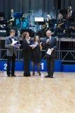 MINSK-BELARUS MAJ, 18: presidenten av federaen för WDSF-danssport Royaltyfria Foton