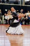 MINSK-BELARUS, MARCH 4: Unidentified Dance Couple Royalty Free Stock Photo