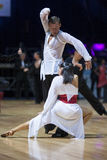MINSK-BELARUS, MAY 19: Dance Couple performs latin Royalty Free Stock Photos