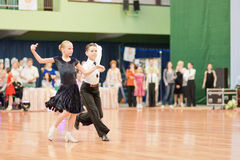 MINSK-BELARUS, MAY 29: Unidentified Dance Couple Royalty Free Stock Photo