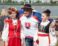 Minsk, Belarus, 09-May-2014: celebration of Ice Ho Royalty Free Stock Photography