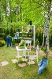 Minsk, Belarus, 23-May-2015 : Décoration de jardin Image stock