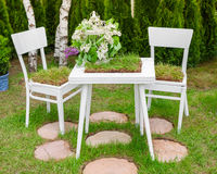 Minsk, Belarus, 23-May-2015: Garden composition Royalty Free Stock Photo