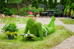 Minsk, Belarus, 23-May-2015: Garden Sculpture from grass Royalty Free Stock Photos