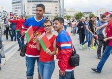 Minsk-Belarus, May, 20: Ice-Hockey Fans In Minsk having Fun Prio Royalty Free Stock Image