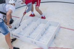 Minsk-Belarus, May, 20: Ice-Hockey Fans In Minsk having Fun Prio Stock Photography
