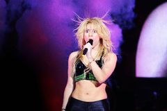 MINSK, BELARUS - MAY 20: Shakira performs at Minsk-Arena on May 20, 2010 in Minsk, Belarus Royalty Free Stock Photos