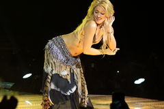 MINSK, BELARUS - MAY 20: Shakira performs at Minsk-Arena on May 20, 2010 in Minsk, Belarus Stock Image