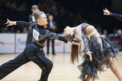 MINSK-BELARUS, MAY,18: Unidentified Dance couple performs Youth- Royalty Free Stock Image