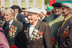 Unidentified veterans during the celebration of Victory Day. MIN Royalty Free Stock Images