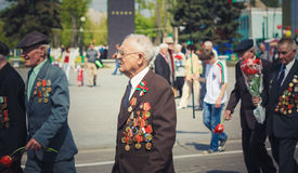 Unidentified veterans during the celebration of Victory Day. MIN Stock Photo