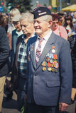 Unidentified veterans during the celebration of Victory Day. MIN Royalty Free Stock Photo